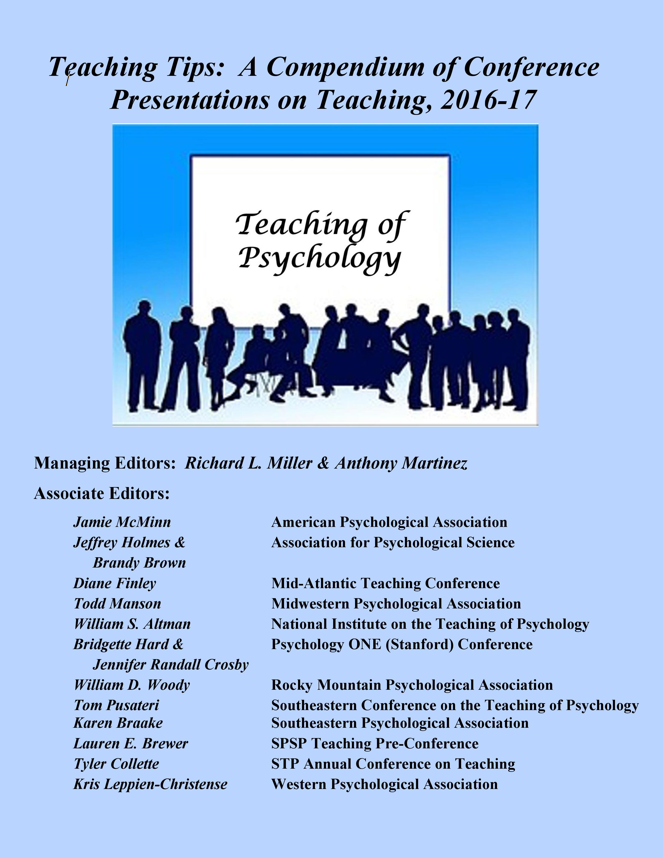 Society For The Teaching Of Psychology E Books