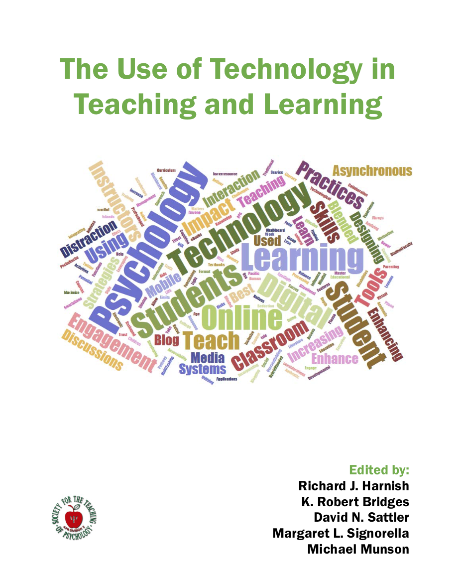 Society For The Teaching Of Psychology The Use Of Technology In Teaching And Learning